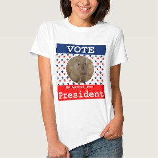 My Gerbil for President T Shirt