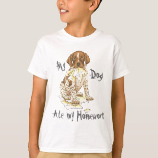 My German Shorthaired Pointer Ate My Homework T-Shirt