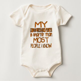MY GERMAN WIREHAIRED POINTER IS SMARTER THAN MOST BABY BODYSUIT