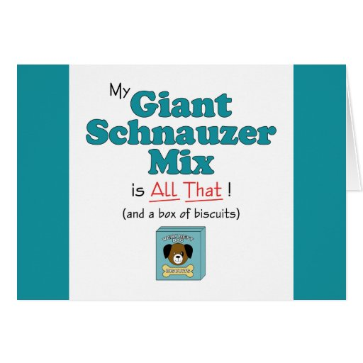 My Giant Schnauzer Mix is All That! Greeting Cards