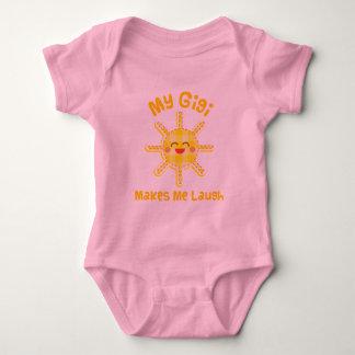 My Gigi Makes Me Laugh Baby Bodysuit