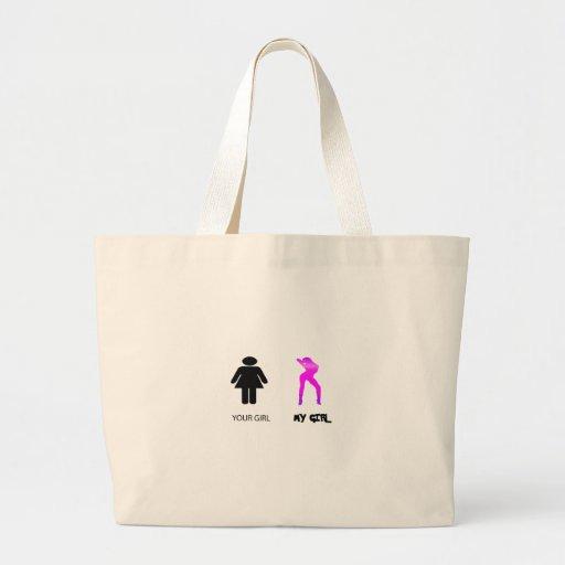 my girl tote bags