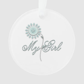 My Girl Teal Flower Ornament