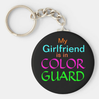 My Girlfriend is in Color Guard Keychain