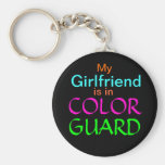 My Girlfriend is in Colour Guard Basic Round Button Keychain