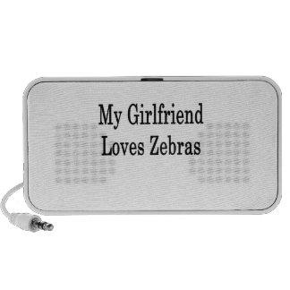 My Girlfriend Loves Zebras Laptop Speaker