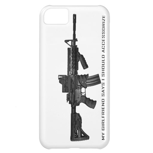 My Girlfriend Says I Should Accessorize AR15 Cover For iPhone 5C