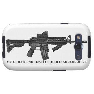 My Girlfriend Says I Should Accessorize AR15 Galaxy SIII Case