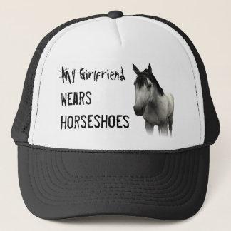 My Girlfriend Wears Horseshoes - Gray Trucker Hat