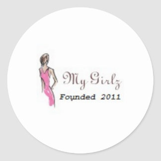 My Girlz -Sticker Classic Round Sticker