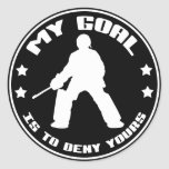 My Goal, Field Hockey (black) Round Sticker