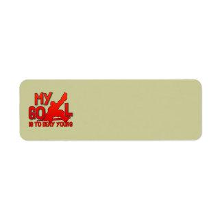 My Goal Hockey Return Address Labels