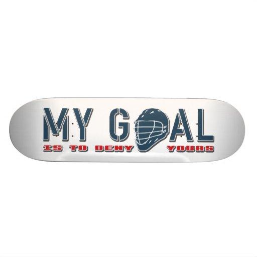My Goal Lacrosse Goalie Skateboard