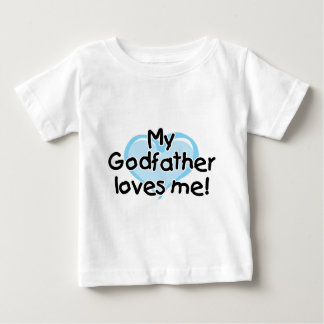 My Godfather loves me (blue) Baby T-Shirt