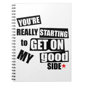 My Good Side Notebooks