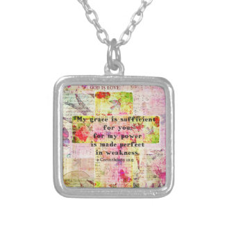 My grace is sufficient for you BIBLE quote - CROSS Custom Jewelry