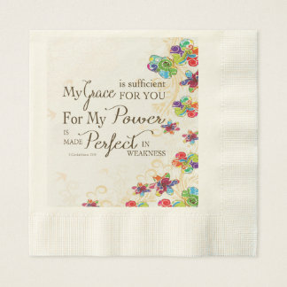 My Grace is Sufficient Paper Napkin