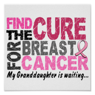 My Granddaughter is Waiting Breast Cancer Poster