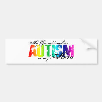 My Granddaughter My Hero - Autism Bumper Sticker