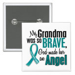 My Grandma Is An Angel 1 Ovarian Cancer 2 Inch Square Button