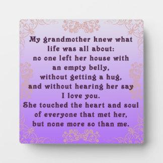 My Grandmother Plaque