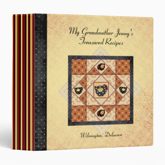 My Grandmother's Treasured Recipes Patchwork Binder