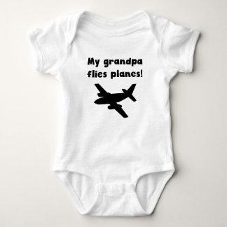 My Grandpa Flies Planes Baby Bodysuit