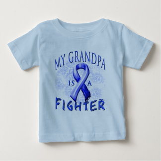 My Grandpa Is A Fighter Blue Baby T-Shirt