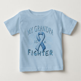 My Grandpa is a Fighter Light Blue Baby T-Shirt