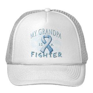My Grandpa is a Fighter Light Blue Trucker Hat