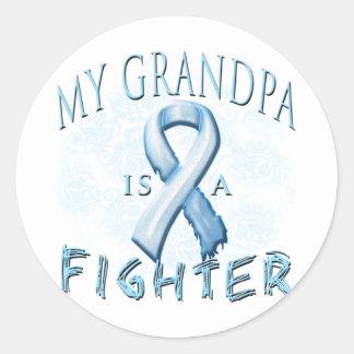 My Grandpa is a Fighter Light Blue Sticker