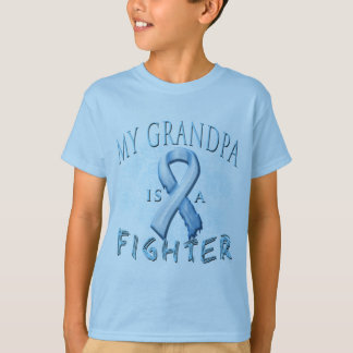 My Grandpa is a Fighter Light Blue T Shirts