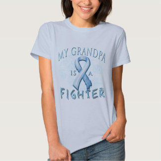 My Grandpa is a Fighter Light Blue T-shirts