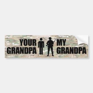 My Grandpa is in the Military Bumper Sticker