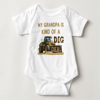My Grandpa is Kind of a DIG Deal Baby Bodysuit
