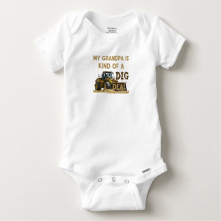 My Grandpa is Kind of a DIG Deal Baby Onesie