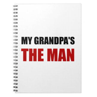 My Grandpa Is The Man Spiral Notebook