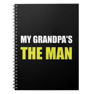 My Grandpa Is The Man Spiral Notebooks