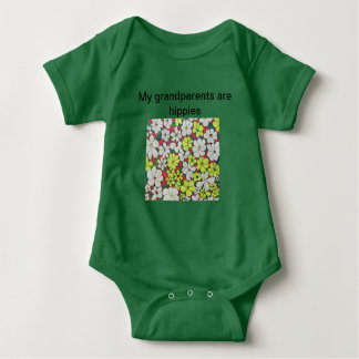 """My Grandparents Are Hippies"" Baby Bodysuit"