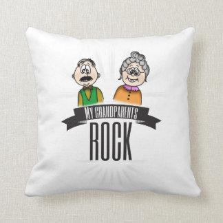 My Grandparents Rock Throw Pillow