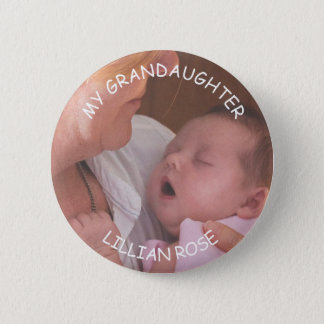 My Grandson Custom Baby Photo & Name Button