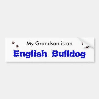 My Grandson is an English Bulldog Bumper Sticker