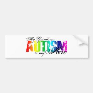 My Grandson My Hero - Autism Bumper Sticker