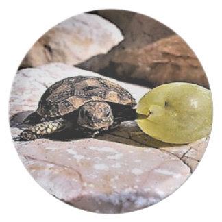 My grape Turtle dinner plate