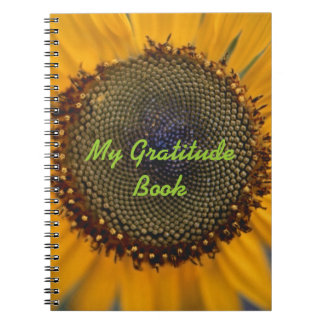 My Gratitude Book With Sunflower
