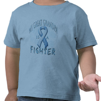 My Great Grandpa is a Fighter Light Blue T Shirt