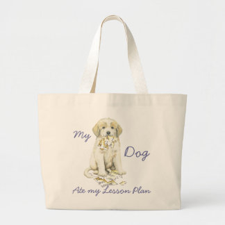 My Great Pyrenees Ate My Lesson Plan Jumbo Tote Bag