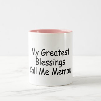 My Greatest Blessings Call Me Memaw Two-Tone Coffee Mug