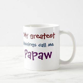 My Greatest Blessings Call Me Papaw Coffee Mug
