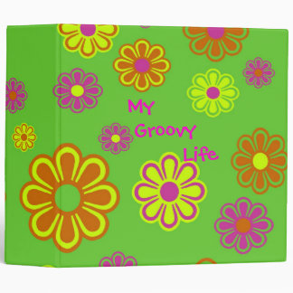 My Groovy Life mod pop flowers Binders